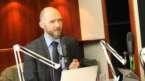 Keleti Arthur IT-biztonsági szakember a kiberbiztonságról beszél. Fotó: Nemes Ilona
