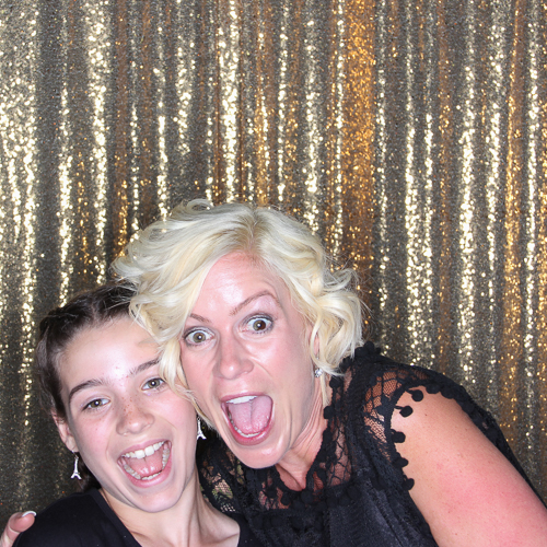 Mom & Daughter laughing in the photo booth