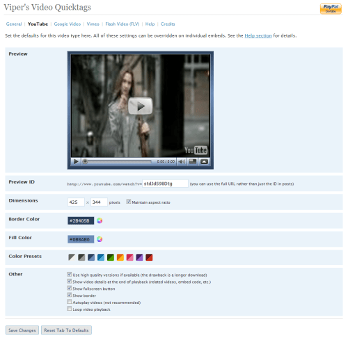 Viper's Video Quicktags v6.0.0 Preview