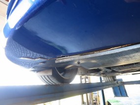 Sheared off bottom of the bumper