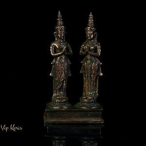Старинная ритуальная статуя Мужчина и Женщина, 21см ...