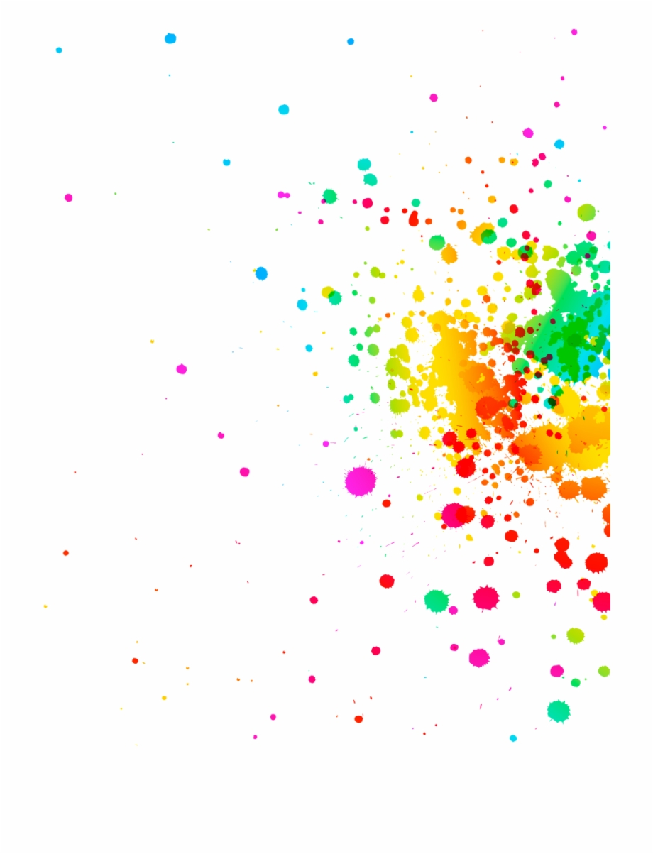 Rainbow Paint Splatter Background