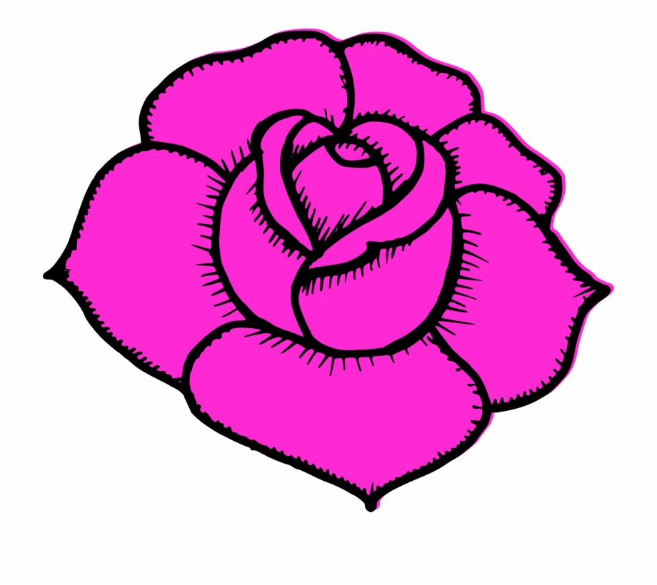 Simple Rose Drawings Simple Pink Rose Drawing Transparent Png Download 1578894 Vippng