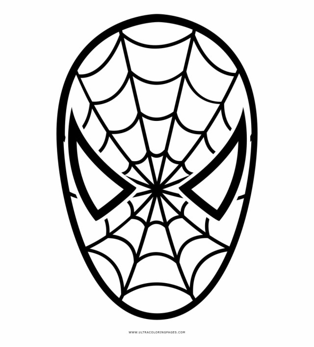 Spider Man Coloring Page - Spider Man Face Coloring Pages
