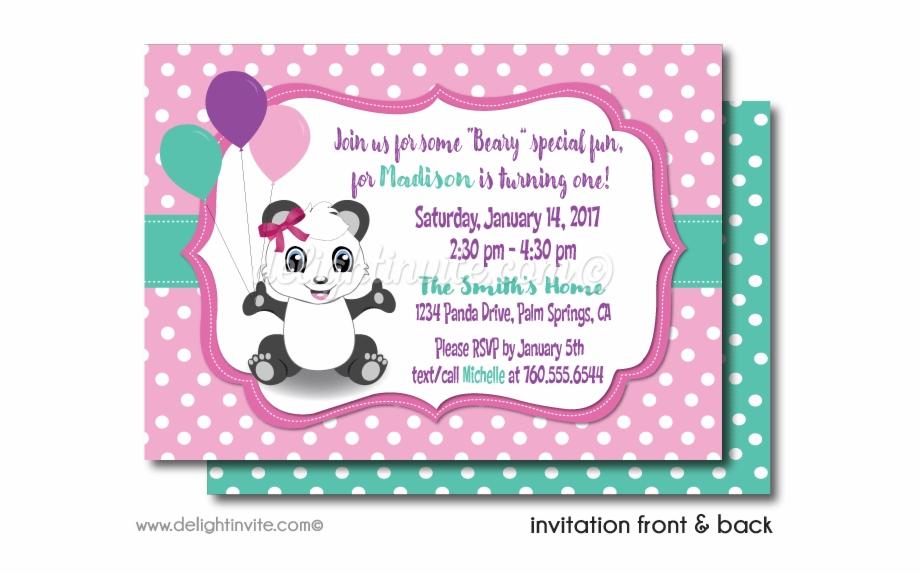 panda invitations birthday card