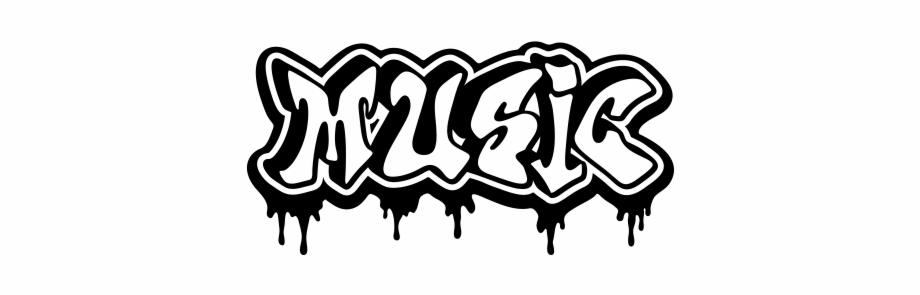 graffiti musique noir et blanc