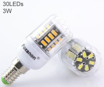 Лампа світлодіодна Foxanon, 220 в, цоколь E14. LED Bulb, 220 v, E14.