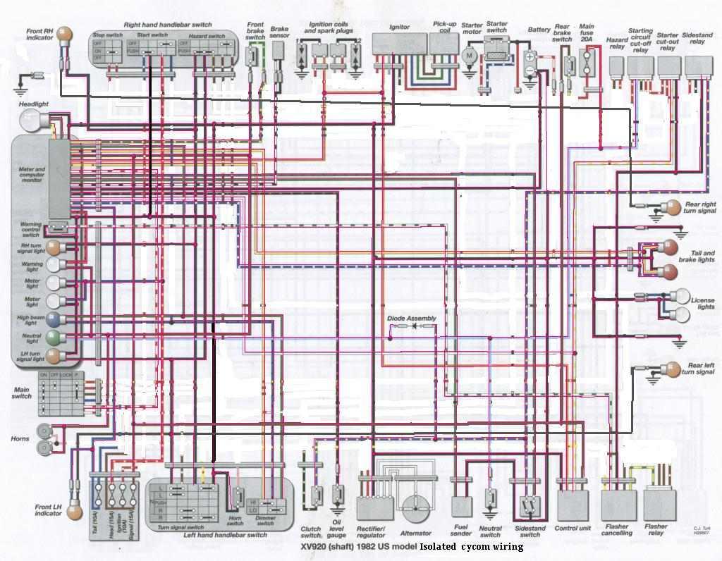 Xv 500 Wiring Diagram | Wiring Diagrams Xv Wiring Diagram on