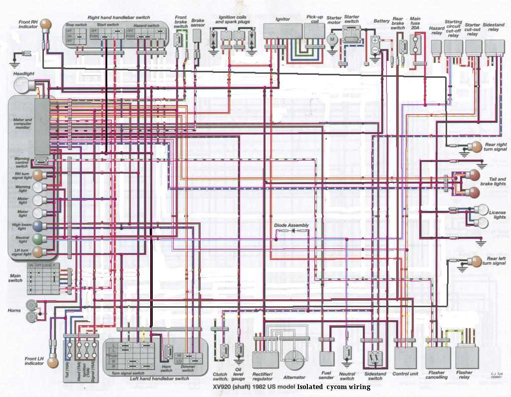 Yamaha Virago 1100 Wiring Diagram Blog About Diagrams Gauges Wire 1993 Clutch G8