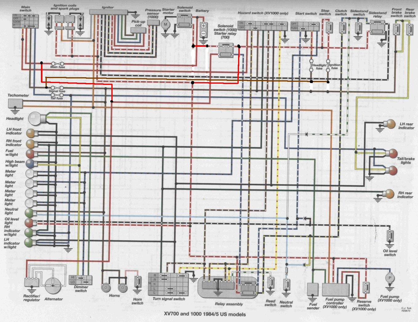 1983 Yamaha Maxim 750 Starter Button Wiring Diagram