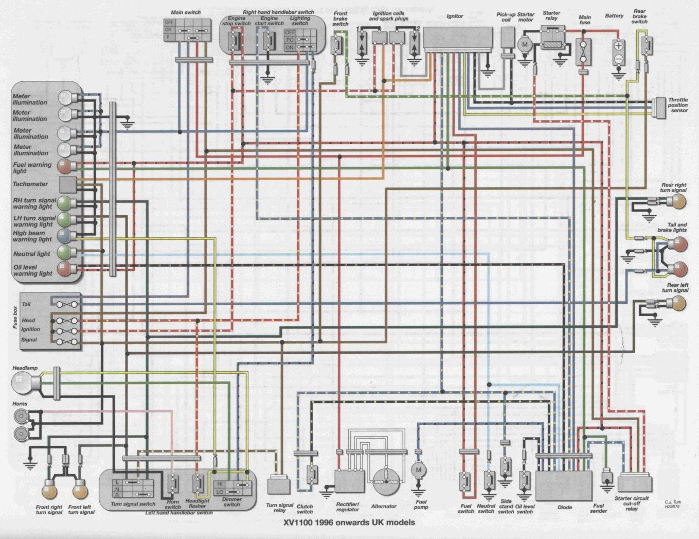 yamaha xv1100 virago wiring diagram yamaha virago motor
