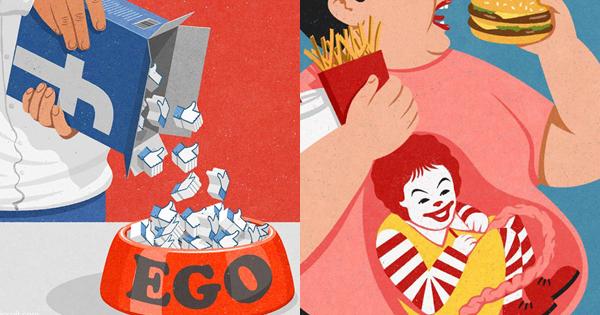 荒謬的人生百態!29幅能令你反思生活的諷刺插畫,John Holcroft幽默演繹