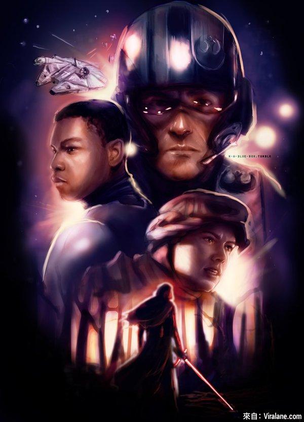 16幅網上最酷的《星際大戰7》同人美工作品,竟好像比官方原版更吸引?!