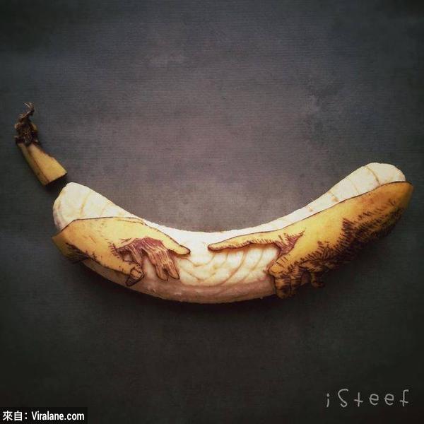 這些全是用香蕉弄出來的?18件難以置信的香蕉藝術作品!