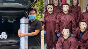 Iloilo City based Fashion Designer Ram Silva created Money Heist Inspired PPE