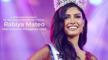 Rabiya Mateo is Miss Universe Philippines 2020