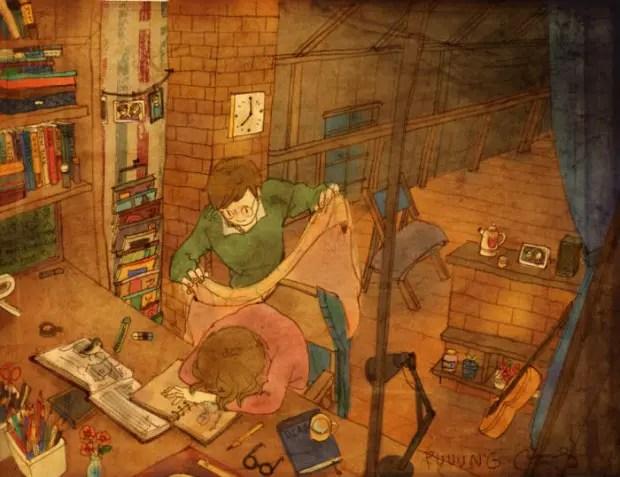 amor-detalles-Puuung-artista-ilustraciones-cansancio