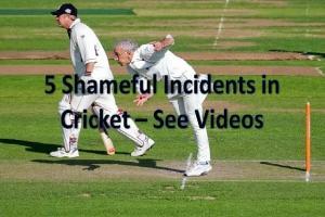 shameful incidents in cricket