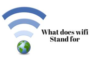 what does wifi stand for