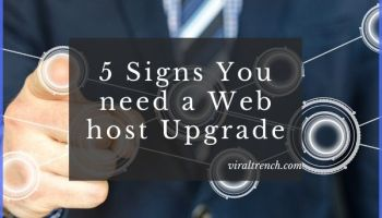 web host upgrade