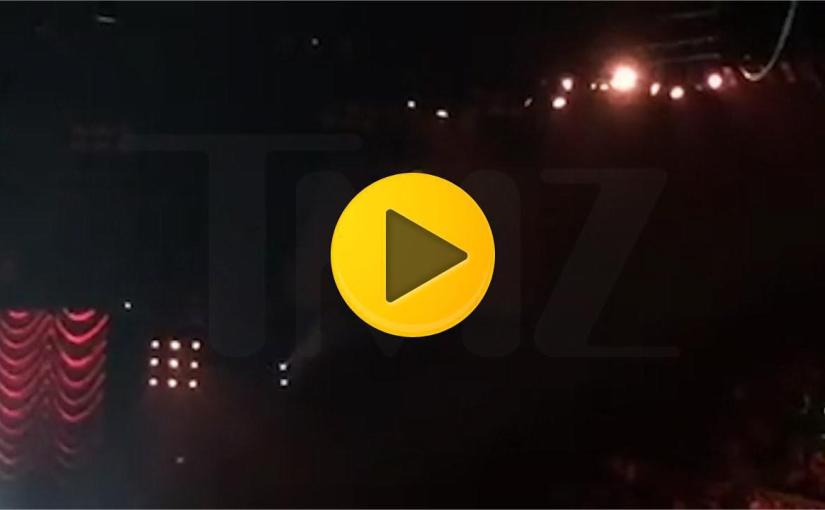 MADONNA BREAKS DOWN ON STAGE FOR ROCCO
