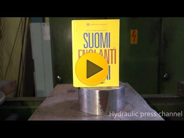 crushing book with hydraulic press viralvideos gr ελληνικά viral