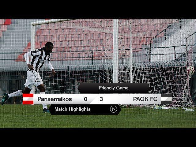 Τα στιγμιότυπα του Πανσερραϊκός-ΠΑΟΚ – PAOK TV