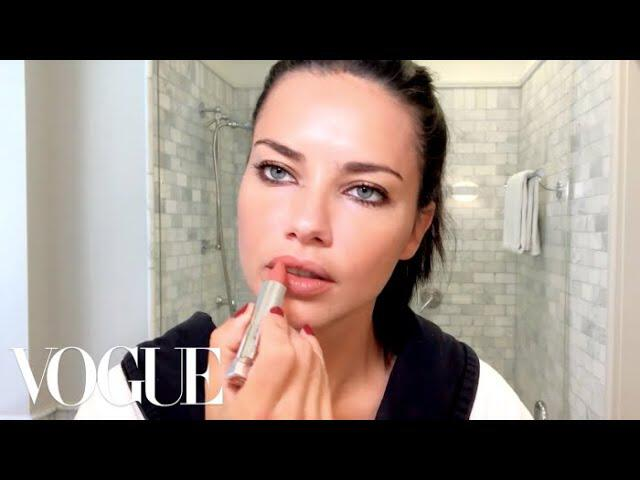 Adriana Lima Gets Ready for a Night Out   Beauty Secrets   Vogue