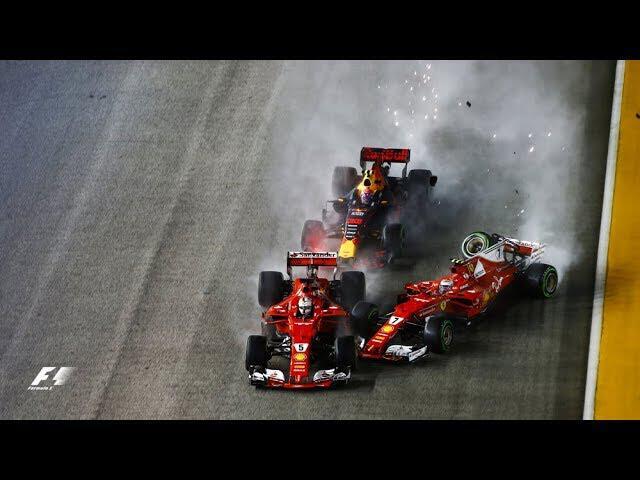 Vettel, Verstappen, Raikkonen Crash In Dramatic Start | 2017 Singapore Grand Prix