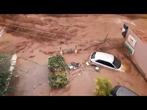 Νέο απίστευτο βίντεο από την Μάνδρα Αττικής . Forecastweather.gr