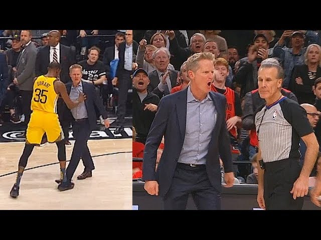 d7486b0484dd Kevin Durant Saves Refs From Steve Kerr Who Wanna Fight After Getting  Furious Then Gets Ejected!
