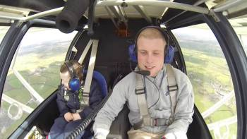 Man Takes His Baby Brother Who Has William Syndrome For His First Flight