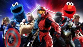 Red VS Blue Featuring Every Red And Blue Character Ever