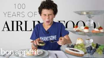 Kids Try 100 Years of Airline Food