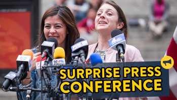 Surprise Press Conference Prank