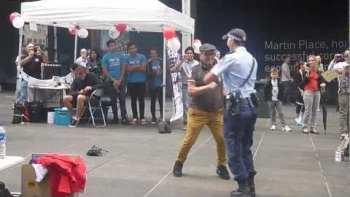 Australian Policewoman Dances With Elderly Man