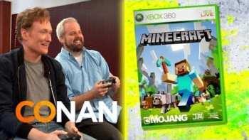 Conan O'Brien Reviews Minecraft On XBox 360