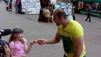 Little Girl Whistles With Beat Boxer