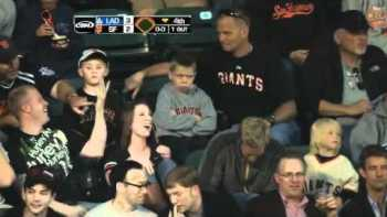 Little Boy Sad And Pouts That He Didn't Catch Foul Ball