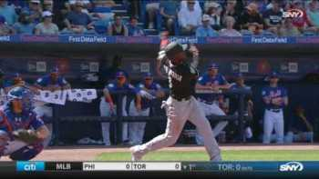 Baseball Player Snags Flying Bat