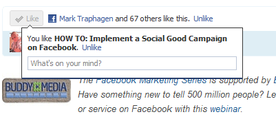 New Like Button Functionality