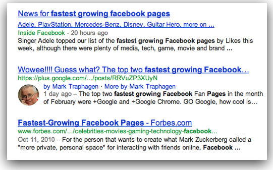Fastest Growing Facebook Pages
