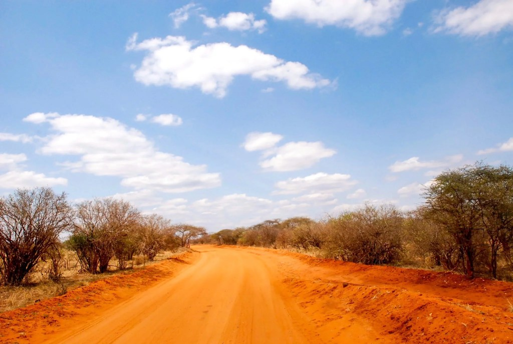 a trail of Tsavo West National Park