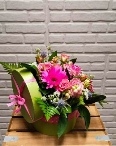 cajita de flores