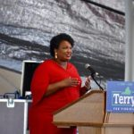 Audio: Stacey Abrams campaigns for McAuliffe in Charlottesville