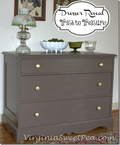 Trash to Treasure Dresser Reveal by virginiasweetpea.com