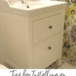 Bathroom Renovation Update How To Install An Ikea Hemnes Sink Sweet Pea