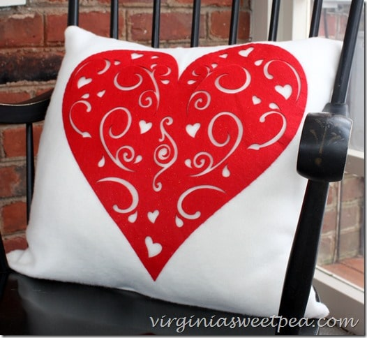 Dollar Store Inspired Valentine's Day Pillow