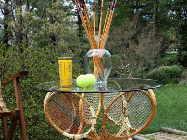 Image result for DIY tennis racket table