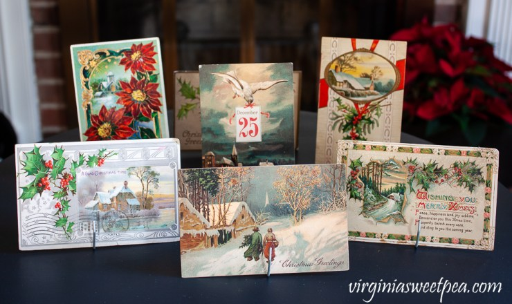 Collection of vintage Christmas postcards from the early 1900's
